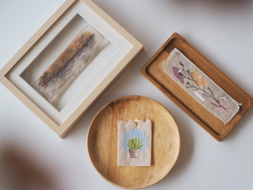 DIY simple eco-friendly sustainable craft idea using used teabags Singapore Teapasar art craft