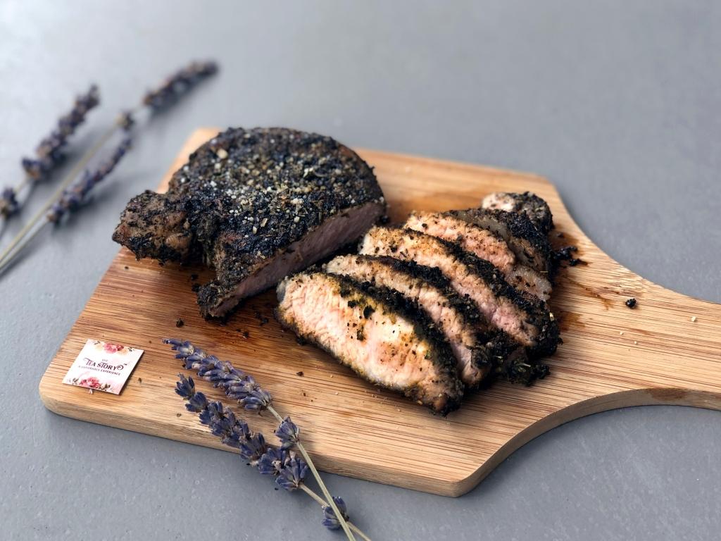 Bon Appétea: Lavender Oolong Herb Rub Pork Chop